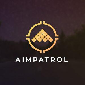 Aimpatrol – Gaming aircraft shooter logo vecto free logo preview