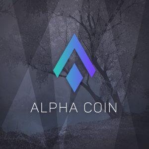 Alpha Coin – Crypto currency vector logo free logo preview