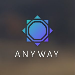 Anyway – Geometric vector logo free logo preview