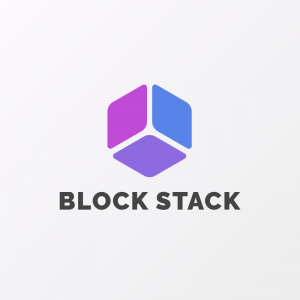 Block Stack – Geometric minimal vector logo free logo preview
