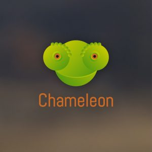 Chameleon – Animal head creative logo vector free logo preview