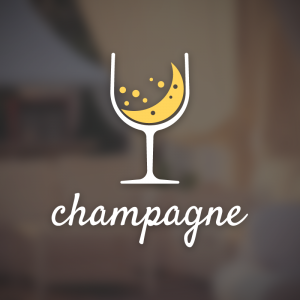Champagne – Sparkling wine vector logo free logo preview