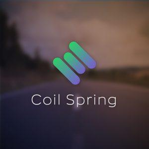 Coil Spring – Minimal vector car suspension logo free logo preview