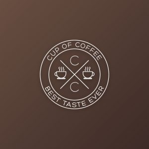 Cup of coffee – Retro outline vector logo free logo preview