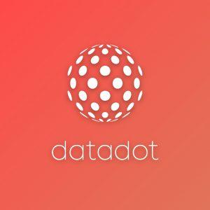 Datadot – Spherical dot vector logo technology free logo preview