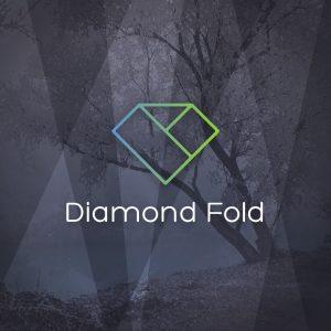 Diamond Fold – Minimal elegant logo vector free logo preview
