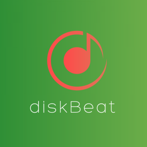 DiskBeat – Musical note vector logo free logo preview