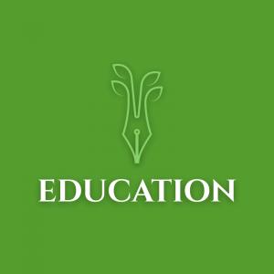 Education – Pen plant creative vector logo free logo preview