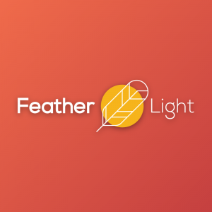 Feather Light – Geometric feather vector logo free logo preview
