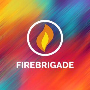 Firebrigade – Geometric fire vector logo design free logo preview