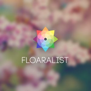 Floralist – Colorful geometric vector logo free logo preview