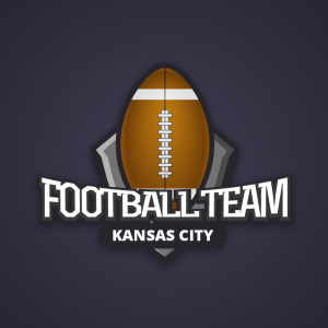 Football Team – Hand egg rugby team logo vector free logo preview