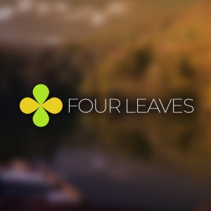 Four Leaves – Autumn nature vector logo free logo preview