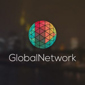 GlobalNetwork – Digital colorful vector logo free logo preview