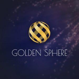 Golden Sphere – Creative elegant vector logo free logo preview