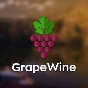 GrapeWine – Geometric grape logo vector winery free logo preview