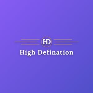 High Defination – Minimal retro HD logo vector free logo preview