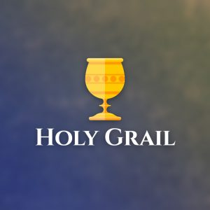 Holy Grail – Flat shaded vector logo free logo preview