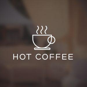 Hot Coffee – Minimal vector logo free logo preview