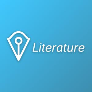 Literature – Creative pen vector logo education free logo preview
