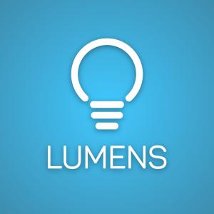 Lumens – Light bulb geometric logo vector free logo preview