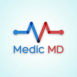 Medic MD – Letter M healthcare logo vector free logo preview
