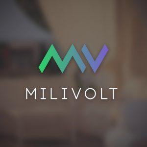 Milivolt – MV letter vector logo free logo preview