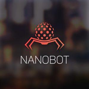 Nanobot – Digital sphere bot vector logo mascot free logo preview