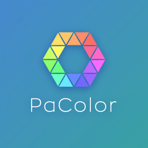 PaColor – Colorful triangle pattern logo design free logo preview