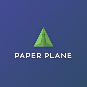 Paper Plane – Logistics transport vector logo free logo preview