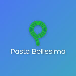 Pasta Bellissima – Vector P pasta logo green free logo preview