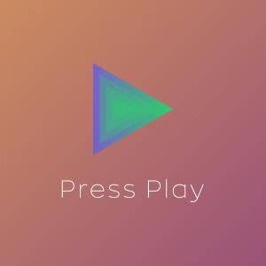 Press Play – Play button logo design free logo preview
