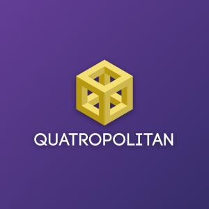Quatropolitan – 3D geometric box vector logo free logo preview