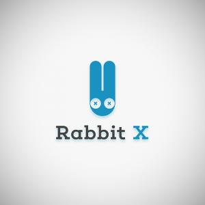 Rabbit X – Minimal geometric head logo vector free logo preview