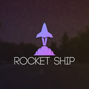 Rocket Ship – Rocket take off vector logo free logo preview
