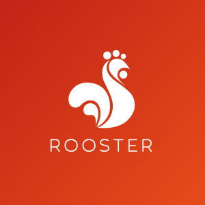 Rooster – Geometric farm animal vector logo free logo preview