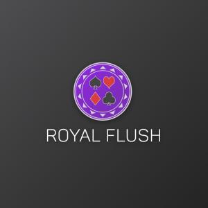 Royal Flush – Gambling casino poker vector logo free logo preview