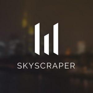 Skyscraper – Minimalist vector logo design free logo preview
