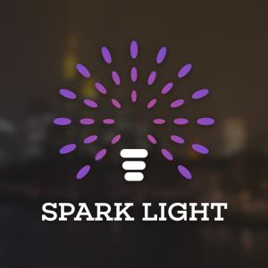 Spark Light – Bulb electric LED logo vector free logo preview