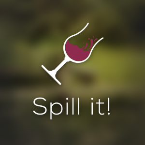 Spill it! – Red wine glass logo vector design free logo preview