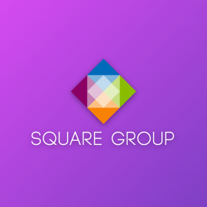 Square Group – Colorful geometric vector logo free logo preview