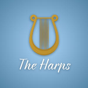 The Harps – Musical instrument logo vector free logo preview