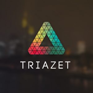 Triazet – Triangle pattern colorful logo vector free logo preview