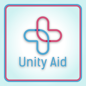 Unity Aid – Medical doctor logo vector free logo preview