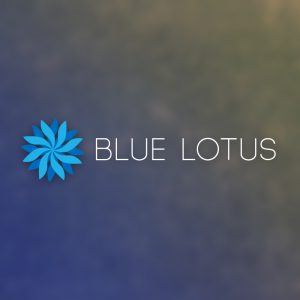 Blue Lotus – Abstract flower vector logo free logo preview