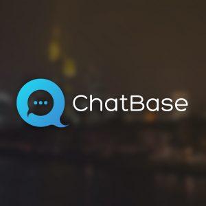 ChatBase – Speech bubble chat app logo vector free logo preview