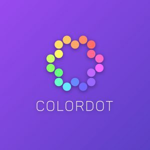 Colordot – Colorful geometric vector logo free logo preview