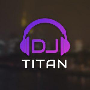 DJ Titan – Audio headphones vector logo free logo preview