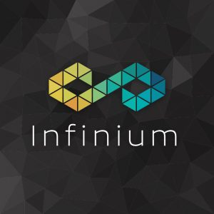 Infinium – Abstract infinity triangle logo vector free logo preview