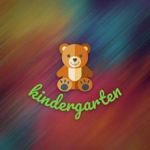 Kindergarten – Teddy bear design logo vector free logo preview
